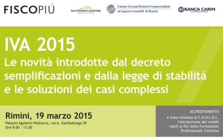 novità IVA 2015 / 19-03-2015 Rimini