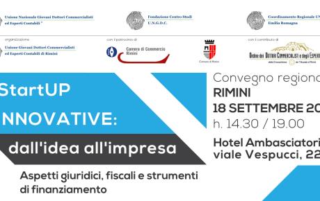 Convegno regionale: StartUP innovative 2015 / 18-09-2015 Rimini