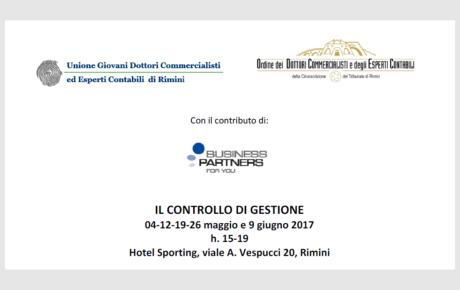 Ugdcec RN | Corso: Il controllo di gestione | Rimini maggio-giugno 2017